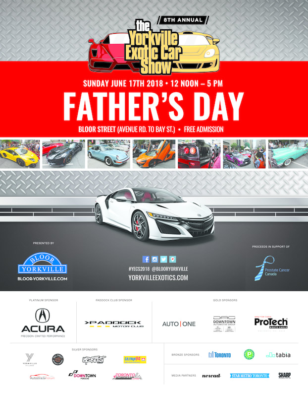 SPONSORSHIP OPPORTUNITIES THE YORKVILLE EXOTIC CAR SHOW - Show car sponsorship
